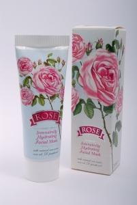Intensive Feuchtigkeits-Maske ROSE mit Rosenöl und Rosenwasser